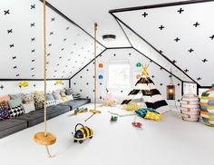 Westhampton Beach Playhouse Kid's Play Room by Chango & Co. Photo - Sean Litchfield