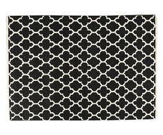 Handgeknoopt tapijt Passion, zwart/wit, 200 x 300 cm → http://westwing.me/shopthelook