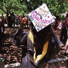 decorative graduation and hats image College Graduation Photos, Graduation Diy, Grad Pics, High School Graduation, Graduation Pictures, Graduation Outfits, Graduation Cap Designs, Graduation Cap Decoration, Abi Motto