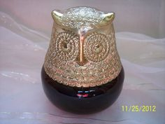 Vintage Avon Bottle Brown and Gold Owl a by ProPicksoftheOzarks, $8.99