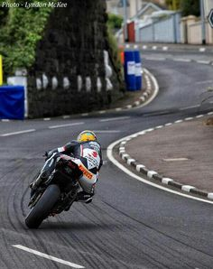 Guy Martin laying some rubber at the NW200