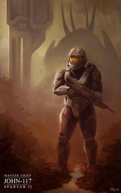 Halo 4: John 117 by artbygp.deviantart.com on @deviantART