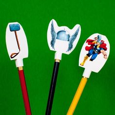 Strengthen your words by adding these Thor pencil toppers to ordinary writing utensils. Before long, your writing will become a more powerful force than you can imagine!