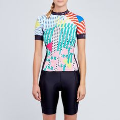 Omnium colourful Women's cycling top