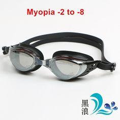 Yetişkin Reçete Optik Miyopi Yüzme Gözlüğü Swim Silikon Anti-sis Kaplı Su diyoptri Yüzme Gözlük gözlük maske