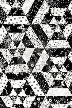 black quilts | Black White Quilt Pattern listed in: