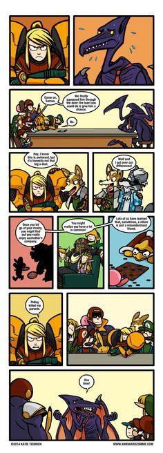 Awkward Zombie comics - Grudge Match