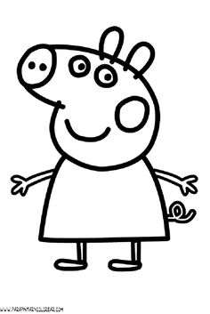 Peppa Pig Birthday Coloring Page