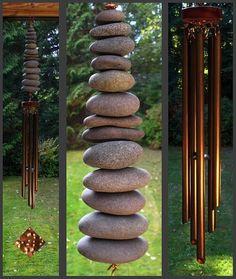 Beach stone chimes