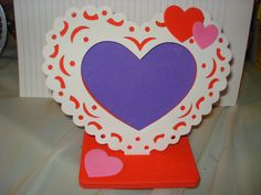 Valentine's Day handmade 3-D lacey heart picture frame for your lover's photo - xv2. $7.50, via Etsy.