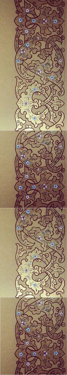 Arabesque Pattern, Persian Pattern, Islamic Patterns, Geometry Pattern, Turkish Art, Border Pattern, Islamic Art Calligraphy, Elements Of Design, Stencil Designs