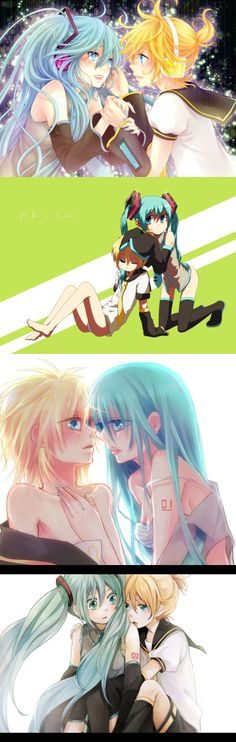 Hatsune Miku and Kagamine Len