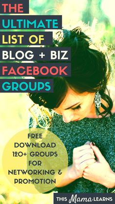 Starting a new blog and not sure how to get your name out there? Here's a blogging tip for you: join blog + biz Facebook groups. This list of 120+ Facebook groups will help you massively grow your blog traffic, social shares and your reach (there are almost 400,000 people in these groups!) Plus, loads of networking opportunities. Click through to sign up and download! It's free!