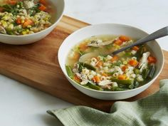 Recipe of the Day: Easiest Turkey Soup         Don't waste any time prepping for the next big affair: eating Thanksgiving leftovers. Start simmering this day-after soup as soon as the turkey is carved by throwing the leftover carcass into the pot for a no-waste, on-the-spot broth. #RecipeOfTheDay