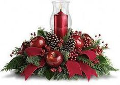 christmas table decorations centerpieces - Google Search