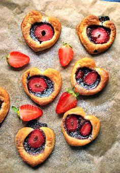 Szybkie i efektowne ciasteczka z truskawkami