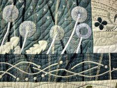 Dandelion details on a quilt from the 2011 Tokyo International Great Quilt Festival.