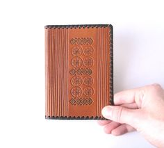 Leather Notebook Cover Embossed Memo Book Vintage by MerilinsRetro