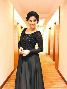 Keerthi suresh sexy pics are an eye feast for her fans. Here are the bold, semi and hot Photos & Images of Keerthi suresh from her hot photoshoots. Do check out Sizzling images of Keerthi suresh in bikini, saree, Jeans Black Pakistani Dress, Pakistani Dresses, Simple Frocks, Half Saree Lehenga, Marriage Dress, Frock For Women, Party Wear Dresses, Party Dress, Hot Dress