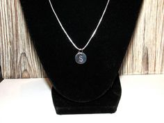 Sterling Silver Necklace, Initial Disc Necklace, Personalized Sterling Silver NECKLACE
