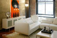 orange, living room, white