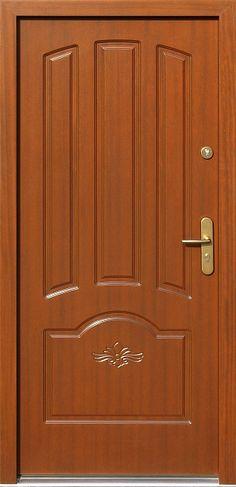 Drewniane wejściowe drzwi zewnętrzne do domu z katalogu modeli klasycznych wzór 502,1+d1