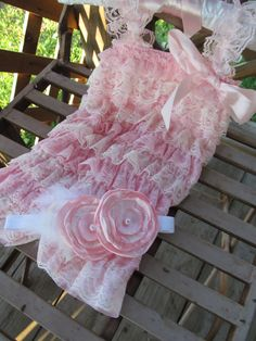 Soft Pink & Ivory  Petti Romper with matching headband! Too perfect <3