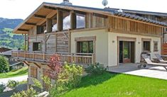 Contemporary take… Megeve. Example of marrying rendered and wood clad surface