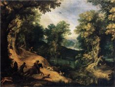 The Stag Hunt - Paul Bril
