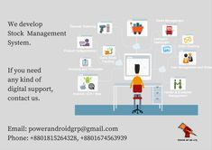 We develop Stock Management System. If you need one, contact us. Email: powerandroidgrp@gmail.com Phone: +8801815264328, +8801674563939  #google #business #job #programming #code #studio #skill #android #ios #website #webdevelopment #iTunes #playstore #apps #top_software_developer #top_android_developer #best_it_company #Marketing #Business #Software #Apps #Mobile #Entrepreneur #Sales #Digital #Tools #top_software_company_in_bangladesh #stock_management_system #power_gp_bd_limited Software Apps, Business Software, Big Stock, Android Developer, Contact Us, Web Development, Programming, Itunes, Ios