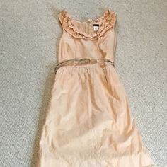 Light pink Jcrew dress! Perfect dress for spring and summer! Belt included with dress! This dress is in perfect condition! No rips, holes, or stains. It hits right above the knee! J. Crew Dresses Midi