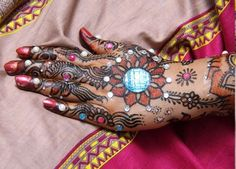 sparkle glitter mehendi! looks great, but not sure how long it will last...