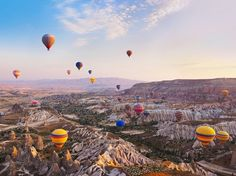 Cappadocia, an area in Turkey where entire cities have been carved into rock, is pretty incredible on its own. But whenever hot-air balloons pepper the sky, its beauty level simply skyrockets.