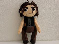 The Walking Dead Daryl Dixon Inspired Felt Doll by markhamasylum, $45.00