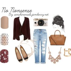 No Nonsense by clarisha-cutler on Polyvore featuring beauty, H&M, MICHAEL Michael Kors, WalG, Genetic Denim, Oasis, need, jamberry and jamnails