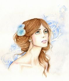The Lady of the Blue Camellias by Achen089.deviantart.com on @deviantART