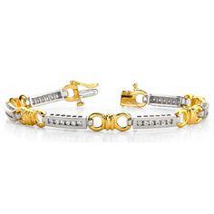 Diamantarmband aus 750er Weißgold und 750er Gelbgold mit 1.08 Karat Lupenreinen Diamanten.  http://www.juwelierhausabt.de/products/de/Diamantarmbaender/108-Karat-Brillantarmband-in-585er-750er-BI-Color-Gold.html  #diamantarmband #diamonds #diamante #diamanten #gold #schmuck #diamantschmuck #juwelier #abt #dortmund