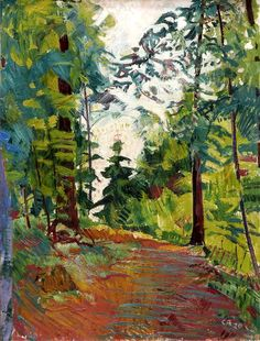 Bo Fransson, Artist from Sweden - Amiet Cuno - Waldschneise. This painting resembles the path leading to my subject tree.