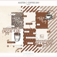 Free Austen | Coffee Day Mini Kit with Journal Cards from little lamm & co. {newsletter subscription required}