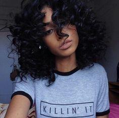 natural air dry curls