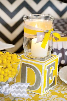 Sunshine Baby Shower Cake | Wish Cards in a crafted baby carriage + button decorated favor ...