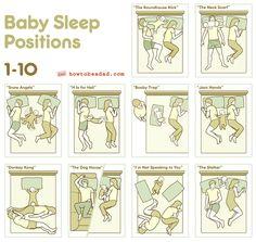 http://i.imgur.com/J2BRj.jpg  http://www.howtobeadad.com/2012/10327/1-10-baby-sleep-positions-collectio