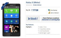 """#NOKIA X"" IS NOW AVAILABLE FOR RS 7,729 #India #Smartphones"