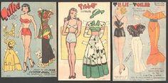 GROUP OF UNCUT NEWSPAPER PAPER DOLLS 1930s-1940s | eBay