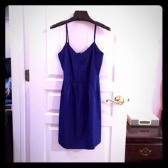 J. Crew / Royal Blue Cami Dress Very cute and versatile J. Crew dress - Royal blue spaghetti strap mini - lightweight and perfect for the summer. Perfect for wedding season also! J. Crew Dresses Mini