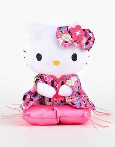 This #HelloKitty plush sits serenely for all to see