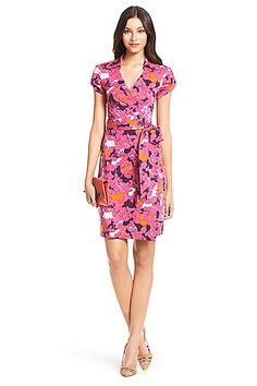 Jilda Two Silk Jersey Wrap Dress in in Eden Garden Small