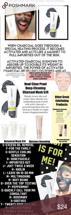 NEW Mary Kay Charcoal Mask! Even though the skin has a natural exfoliating process, sometimes this process doesn't work as effectively as it should, so oil, bacteria & impurities get trapped inside pores. The Charcoal Mask helps remove dirt & impurities that can contribute to problem skin and offers a gentle solution for a clearer-looking complexion. The mask contains activated charcoal and mineral clays to absorb pore-clogging impurities and excess oil. Skin looks clearer and healthier, and…