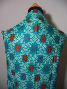 Kain Batik Motif Kombinasi Biru Muda Batik Cap tradisional handmade, bahan katun, ukuran: 1,15 x 2m