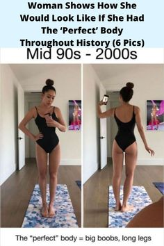 #Woman Shows How She Would Look Like If #She Had The 'Perfect' #Body Throughout #History (6 Pics)